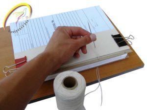 Как сшивать документы нитками вручную и при помощи станка?