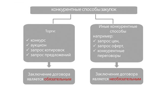 Конкурентные закупки в рамках 223-ФЗ: основные способы, порядок проведения и законодательное регулирование