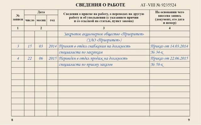 Дополнительное соглашение к трудовому договору о переводе работника на другую долность