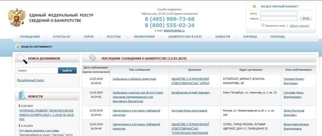 Проверка на банкротство физических лиц: где можно посмотреть сведения? Единый федеральный реестр и иные способы