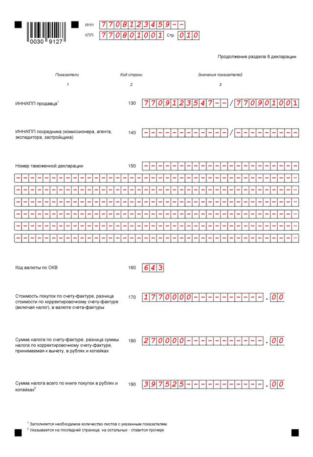 Налоговая декларация НДС в 2019 году: новые коды, порядок заполнения и образец формы